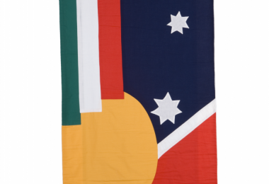 Italian banner, 1986 Migration Museum